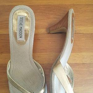 Steve Madden Shoes - gold heels/sandals
